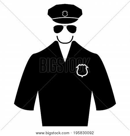 Police Black Color Icon .