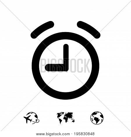 alarm clock icon stock vector illustration flat design
