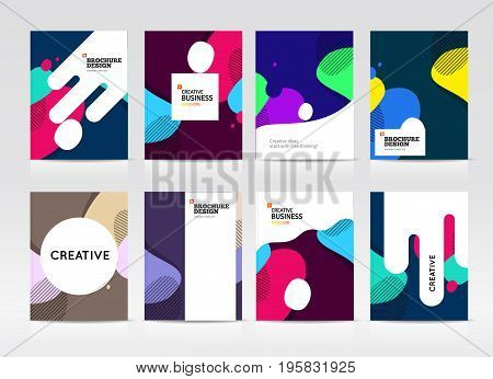 Abstract business Brochure design vector template in A4 size. Document or book cover. Annual report with photo and text. Simple style brochure. Flyer promotion. Presentation cover