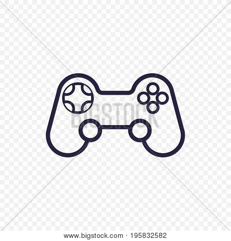 Game Controller Line Icon. Gamepad Thin Linear Signs For Video Computer Game. Outline Concept For We