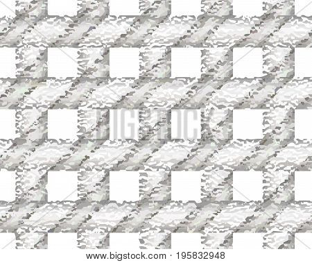 Gray checkered textured pattern. Overlaying vector seamless pattern