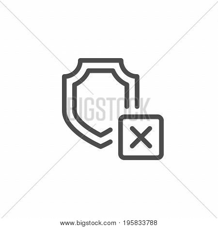 Cargo insurance line icon isolated on white. Vector illustration