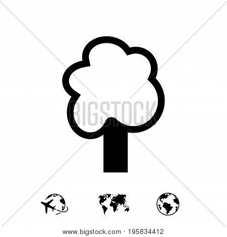 tree icon stock vector illustration flat design