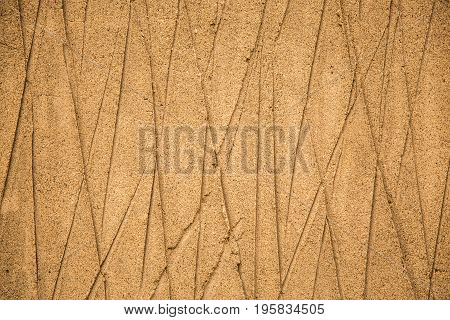 Crossing lines sandy abstract background nature yellow