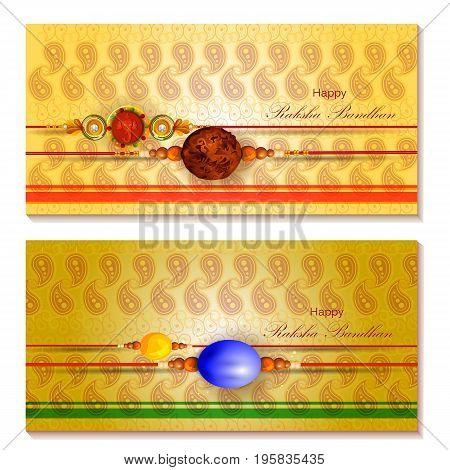 easy to edit vector illustration of Rakhi background for Indian festival Raksha bandhan celebration