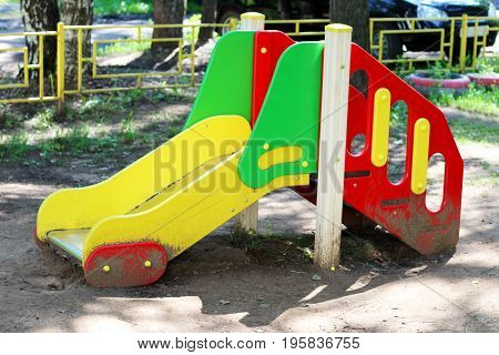 Children's playground, Children's slide for children's entertainment