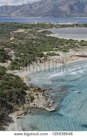 View of the Mediterranean sea in Sardinia