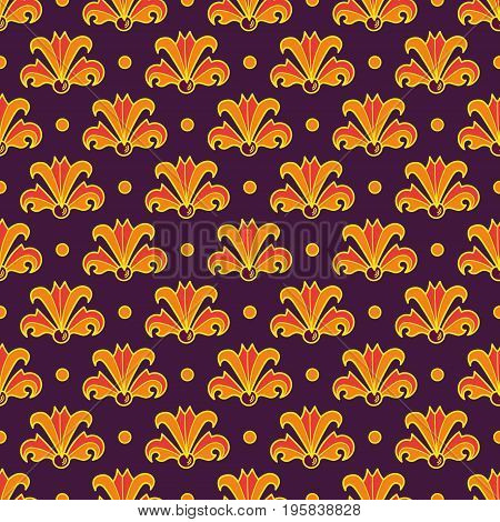 Art Nouveau flowers, Seamless floral pattern inspired by vintage style