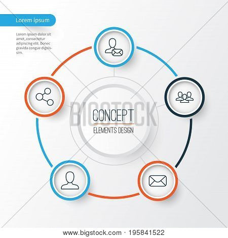 Social Icons Set. Collection Of Online Letter, Team, Web Profile And Other Elements
