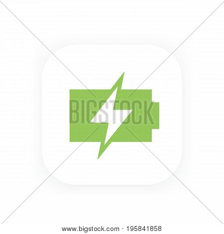 charging battery vector icon, eps 10 file, easy to edit
