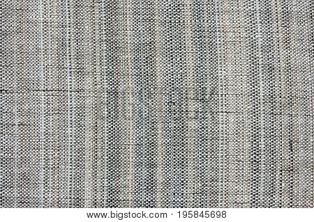 Old rough textural fabric with horsehair abstract textile background