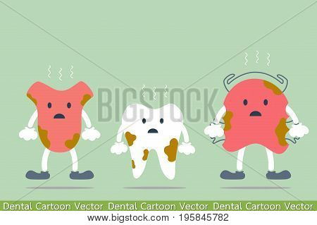 Dirty Cartoon Dental - Tooth, Tongue And Teeth Retainer