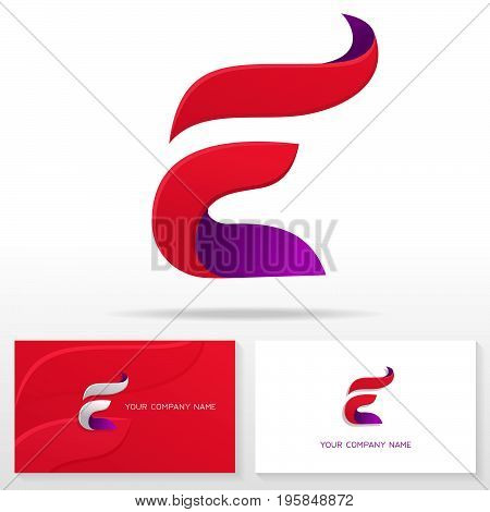 Letter E logo icon design template. Business card templates. Vector illustration.
