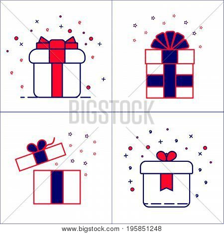 Gift Box Vector Set