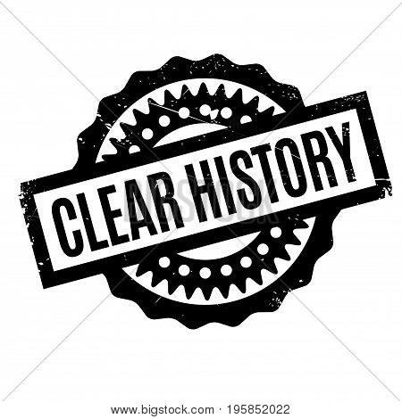 Clear History rubber stamp. Grunge design with dust scratches. Effects can be easily removed for a clean, crisp look. Color is easily changed.