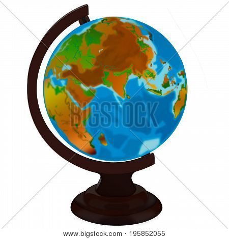 globe isolated on stand on white background.