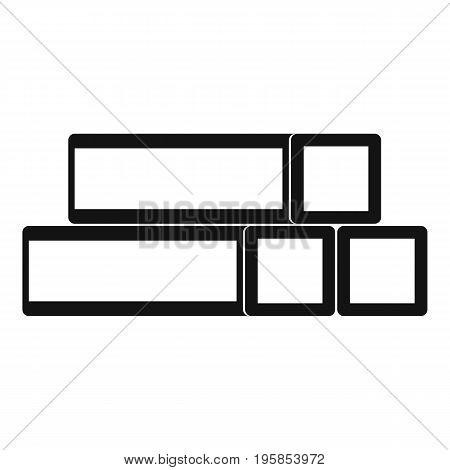 Metal bar icon. Simple illustration of metal bar vector icon for web