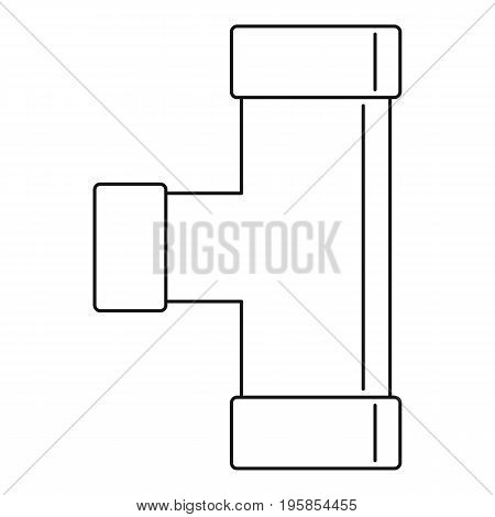 Water tube icon. Outline illustration of water tube vector icon for web
