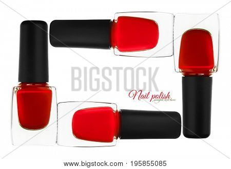 Nail polish. Isolated on white background