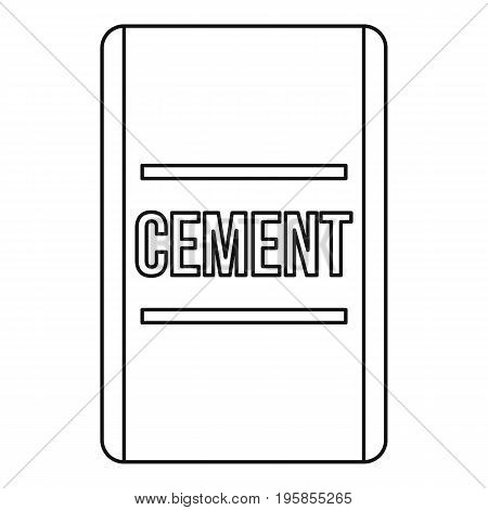 Cement icon. Outline illustration of cement vector icon for web