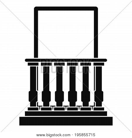 Door with columns icon. Simple illustration of door with columns vector icon for web