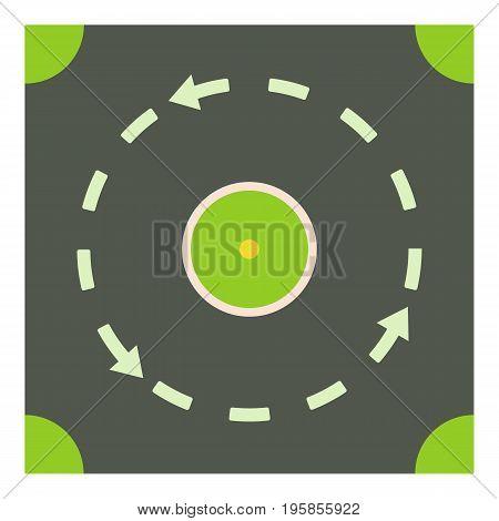 Circular road icon. Cartoon illustration of circular road vector icon for web