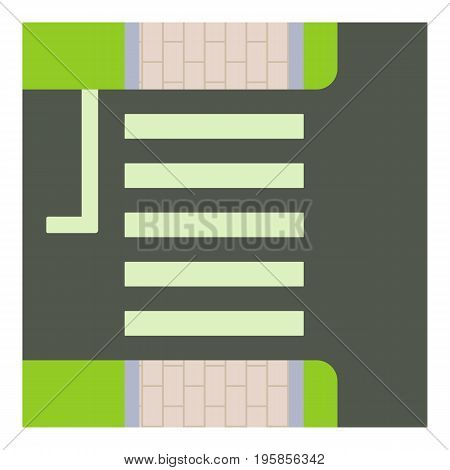 Pedestrian zone icon. Cartoon illustration of pedestrian zone vector icon for web