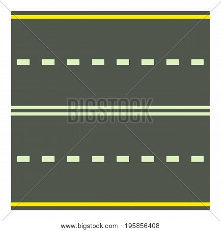 Road icon. Cartoon illustration of road vector icon for web