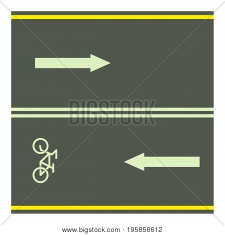 Bike path icon. Cartoon illustration of bike path vector icon for web