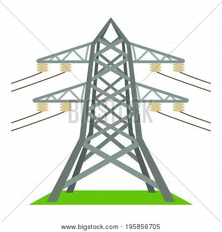 Electric tower icon. Cartoon illustration of electric tower vector icon for web