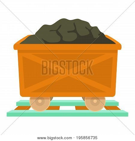 Coal icon. Cartoon illustration of coal vector icon for web