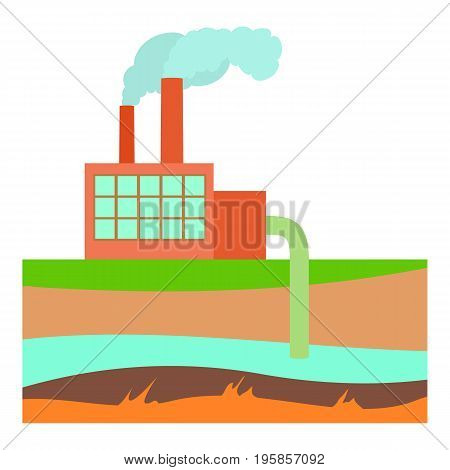 Processing plant icon. Cartoon illustration of processing plant vector icon for web