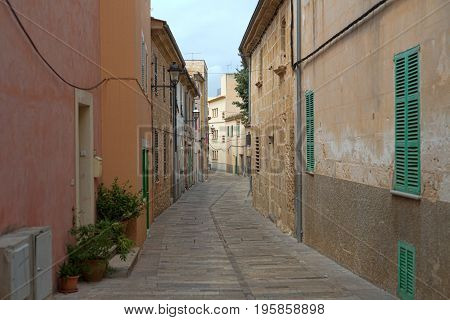Former European colonial deserted street capital mediterranean