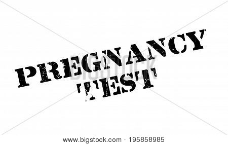 Pregnancy Test rubber stamp. Grunge design with dust scratches. Effects can be easily removed for a clean, crisp look. Color is easily changed.