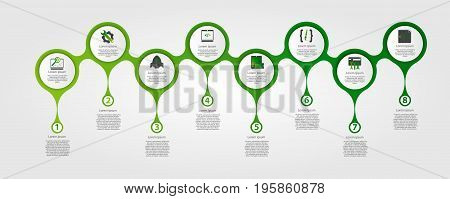 Modern Template For Infographic Circles. Template For Graphics, Presentation, Business, Web Design,