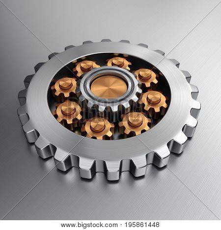 3D Rendering Gears
