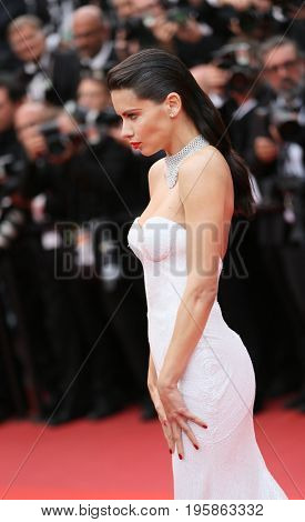Adriana Lima attends the 'Nelyobov (Loveless)' screening during the 70th Cannes Film Festival at Palais des Festivals on May 18, 2017 in Cannes, France.