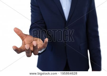 Mid section of helpless businessman showing his hands