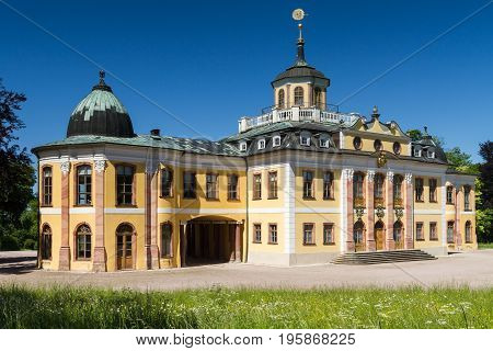 Panorama of Baroque Schloss Belvedere Weimar Thuringia Germany