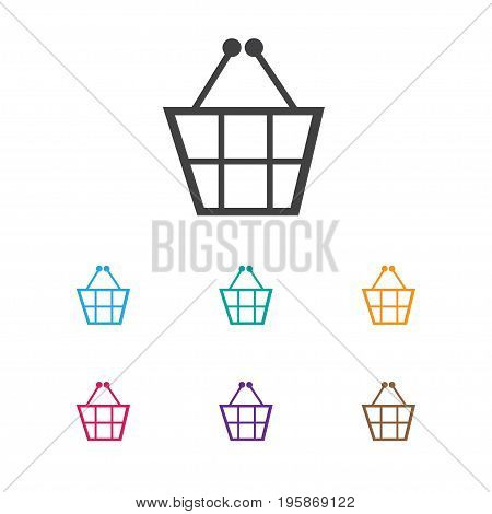 Vector Illustration Of Analytics Symbol On Shopping Basket Icon