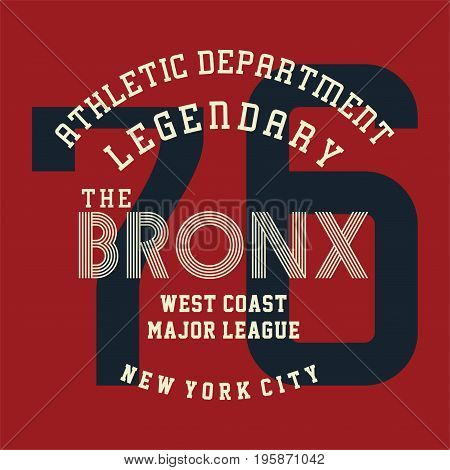 graphic design athletic legendary new york for shirt and print