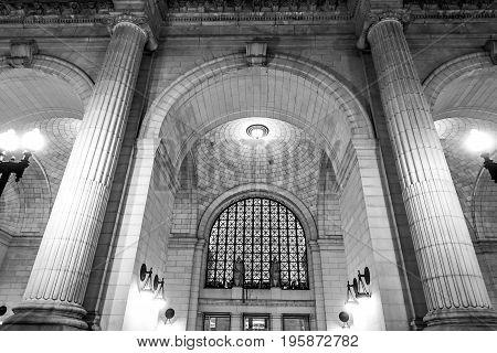 Main Entrance of Union Station in Washington