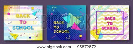 Back School Posters Vector Photo Free Trial Bigstock