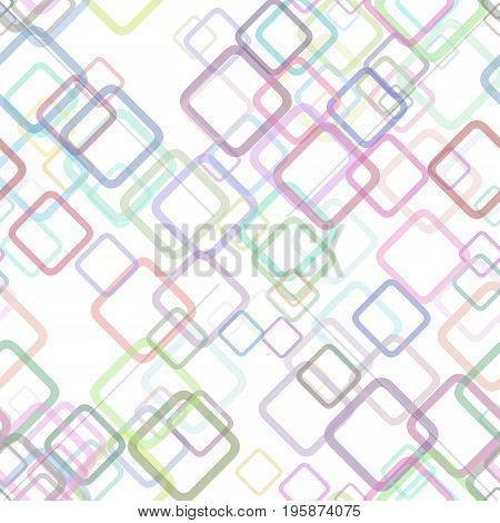 Seamless geometrical square pattern background - vector graphic design from random diagonal squares with opacity effect
