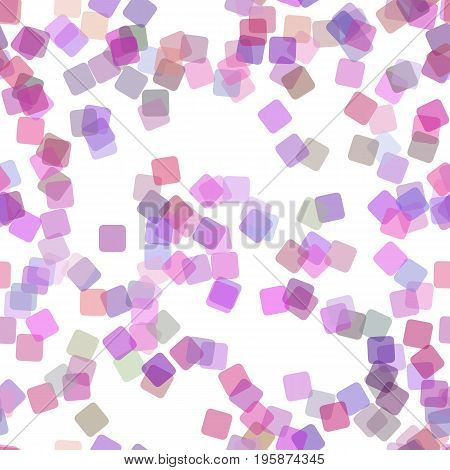 Seamless abstract geometrical square background pattern - vector graphic from random rotated squares with opacity effect in purple tones