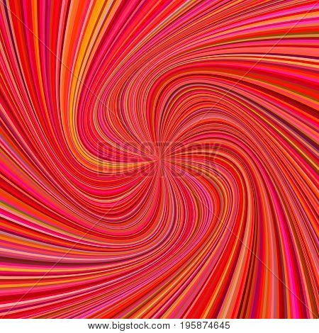 Spiral background - vector design from rotating rays in red colored tones