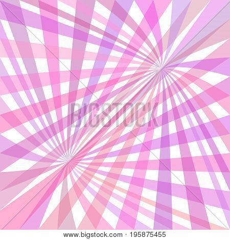 Double curved ray burst background - vector design from curved rays in pink tones