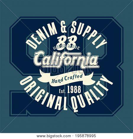 graphic design california original quality for shirt and print
