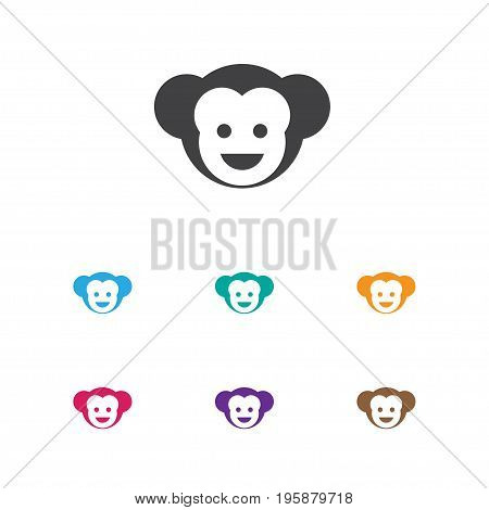 Vector Illustration Of Zoology Symbol On Monkey Icon