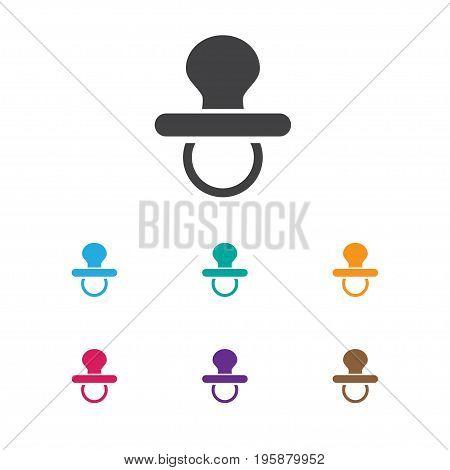 Vector Illustration Of Infant Symbol On Nipple Icon